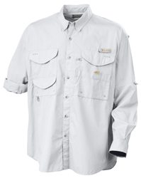 Canyon gear woven fishing shirts short long sleeve for Embroidered columbia fishing shirts